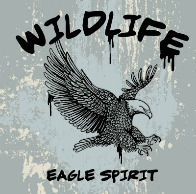 outline-vector-of-an-eagle-with-grunge-background