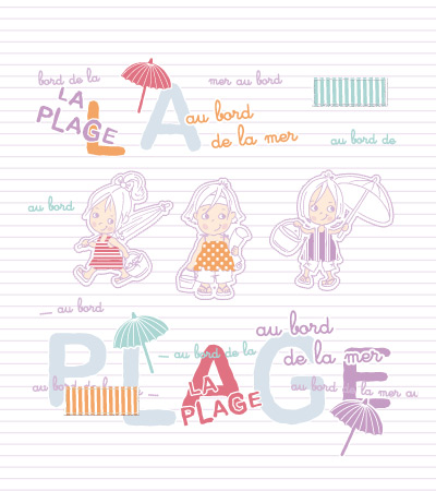Au Bord De La Mer Kidsfashionvector Cute Vector Art