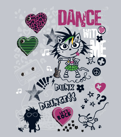 Dance-rock-cute-vector-design-for-girl-clothes