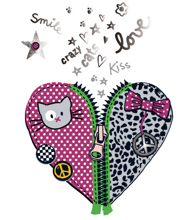 Heart-zipper-printed-cute-vector-design-for-girl-clothes