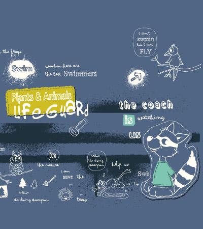 Racoon-lifeguard