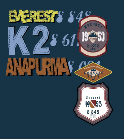 Labels-Everest-vector