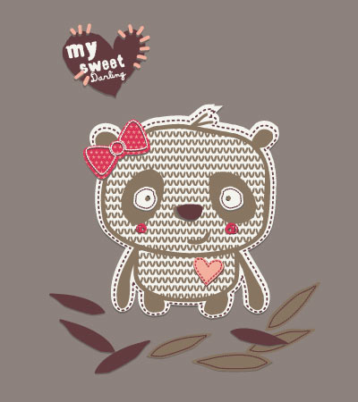 My-sweet-panda-vector
