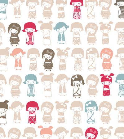 Pattern-japanese-girl-vector