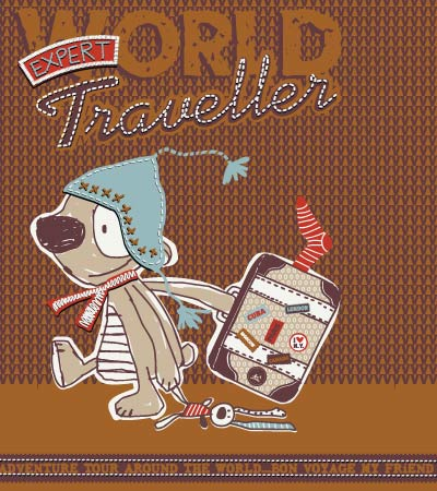 World-traveller-vector-graphics-for-children-s-clothes