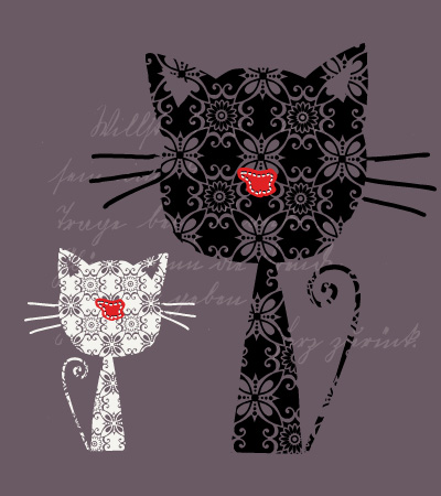 Cat-pattern-baby-girl-textile-art-春夏童装设计手稿
