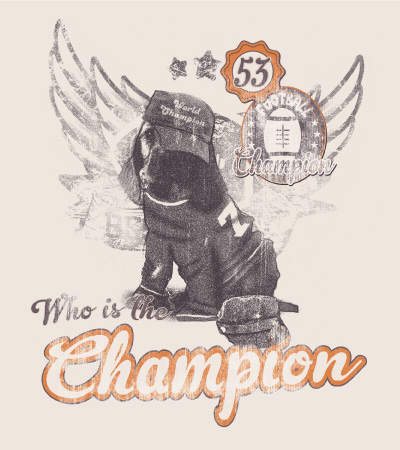 Champion-cute-dog-vector-t-shirt-design