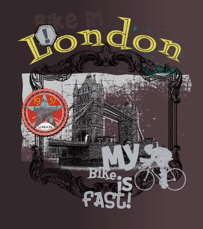 bike-is-fast-illustration-art-for children-clothes