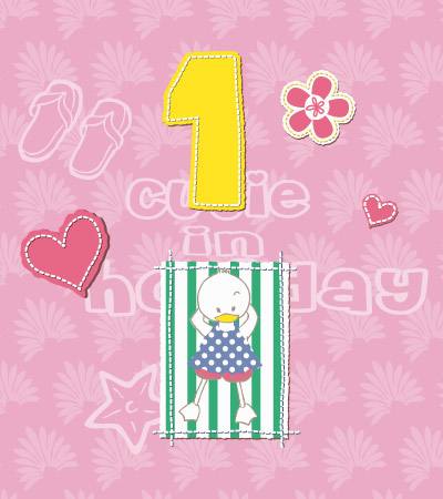Cute-duck-on-towel-clothes-for-girls