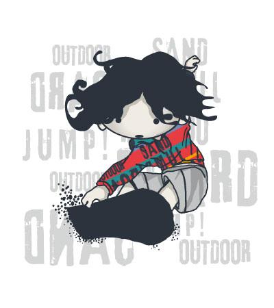 cute-comic-sand-boarding-boys-t-shirts