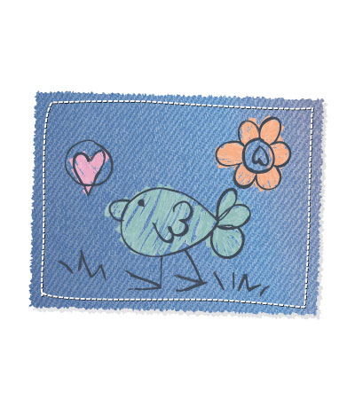 Jeans-patch-cute-bird-vector-baby-clothing
