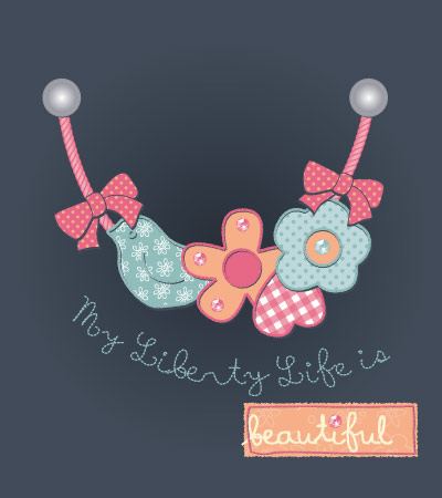 Necklace-patched-vector-flowers-baby-clothing