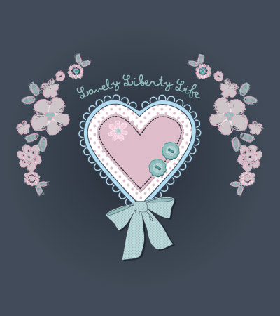 Patch-heart-vector-flowers-baby-clothing