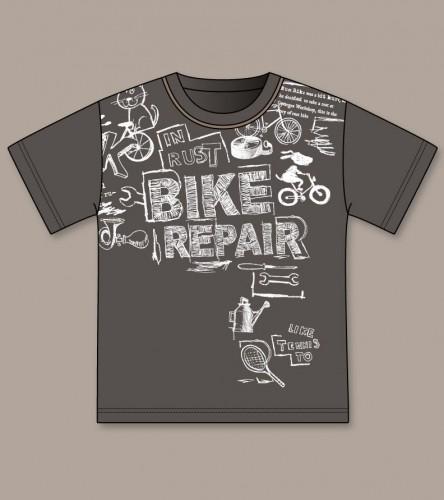 T-shirt-baby-boy-flat-sketch