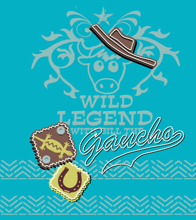 Gaucho-legend-cute-vector-illustration