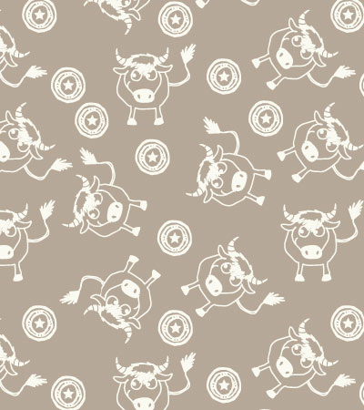 Pattern-linen-bull-cute-vector-illustration