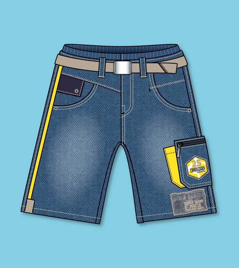 Trousers-short-flat-sketch-jeans-boy