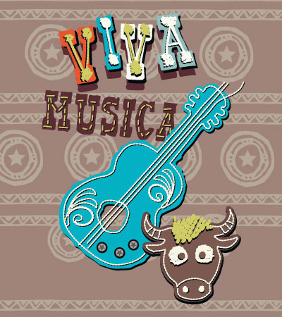 Viva-musica-cute-vector-illustration