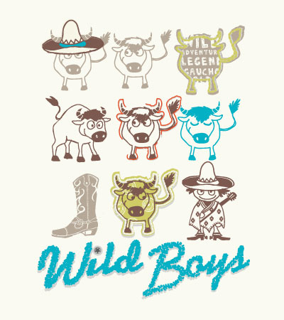 Wild-boys-bulls-cute-vector-illustration