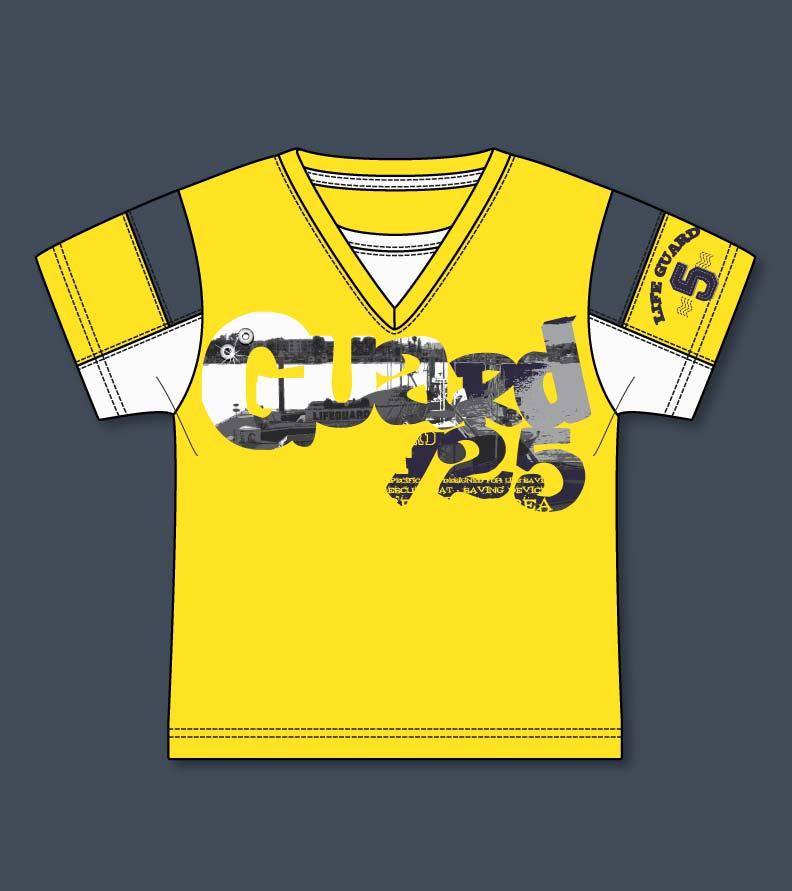 Vector yellow t shirt v neck kidsfashionvector cute for Yellow t shirt for kids