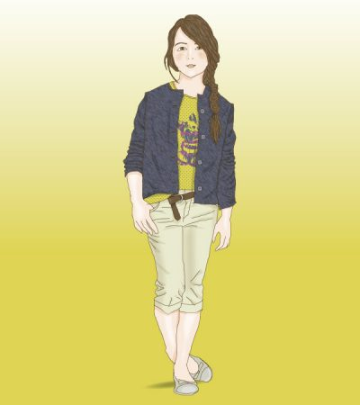 girl-figurine-sketch-vector-illustration