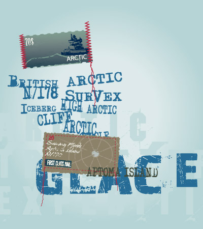 Artic-cute-motif-vector