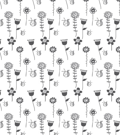 Black-and-white-flowers-cute-vector-illustration