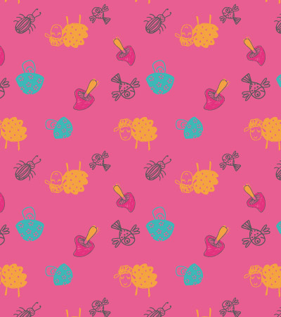 Pink-pattern-cute-vector-illustration