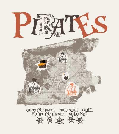 Treasure-map-vector-kids-t-shirt-design