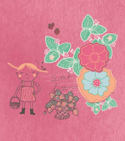 girl-fruits-garden-illustration