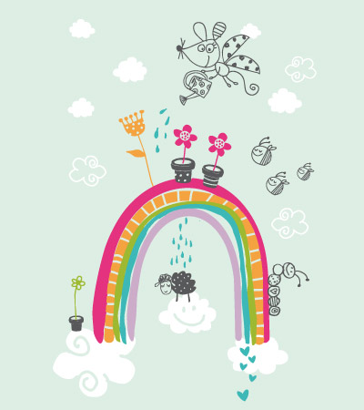 rainbow-cute-vector-illustration