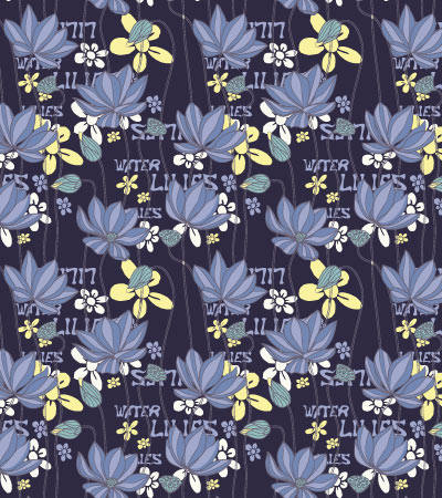 seamless-pattern-water-lilies
