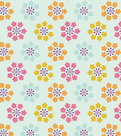 Abstract-flowers-pattern-vector-art