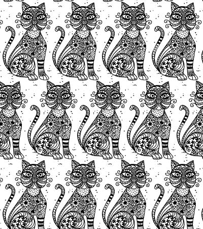Beautiful-oriental-cat-pattern