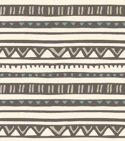 Linear-pattern-Tribal-baby-illustration