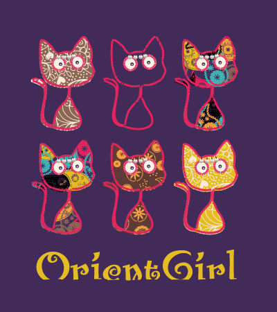 Oriental-cats-motif