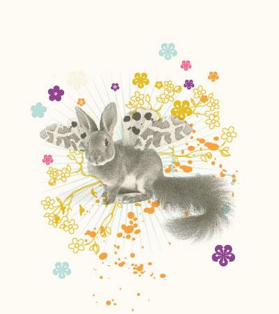 Rabbit-wings-vector-art
