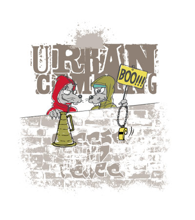 urban-camping-rat-city-vector
